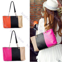 Wholesale off per New Korean Style beautiful Women Lady PU Leather Handbag Tote Bag Shoulder Bag