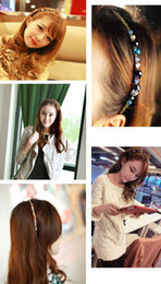 Wholesale 50 New arrivals colorful Crystal Rhinestone Stunning Hair Band Headband