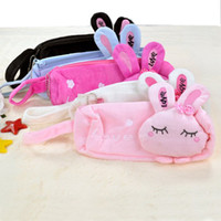 Wholesale For Girls Cute Cartoon Love Rabbit Pencil bag Box Cosmetic bag Case packaging Bag Organize purse wal