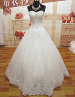 Wholesale New Design Custom Made A line Sweetheart wedding dresses Crystal Applique Bridal Gowns HD032