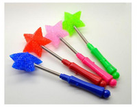 Wholesale 4X LED Flashing Torch Glow Light Stick Wand Star Rose Shape Party Birthday