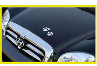 Wholesale 6pairs D Cool Bear Dog Footprints Car Stickers PVC Personality Car Decoration Cute Animal Stickers