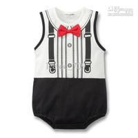 Doomagic size 70- 95 baby boy infant gentleman romper gentlem...