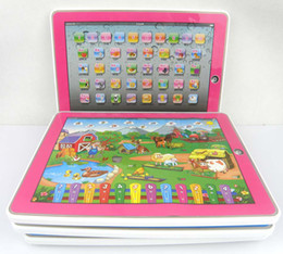 Wholesale Y Pad ABC English Learning Toys and Table Farm Styles Mixed Ypad With Pink Blue Music and Led Light