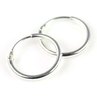 Wholesale Sterling Silver Small Endless Hoop Earrings for cartilage Nose and lips inch mm PT