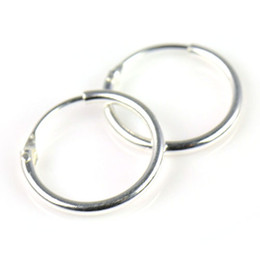 Wholesale Cartilage Hoops - Sterling Silver Small Endless Hoop Earrings for cartilage,Nose and lips,3 8 inch=9.5mm,PT-698