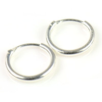 Wholesale Sterling Silver Teeny Endless Hoop Earrings for cartilage Nose and lips inch mm PT
