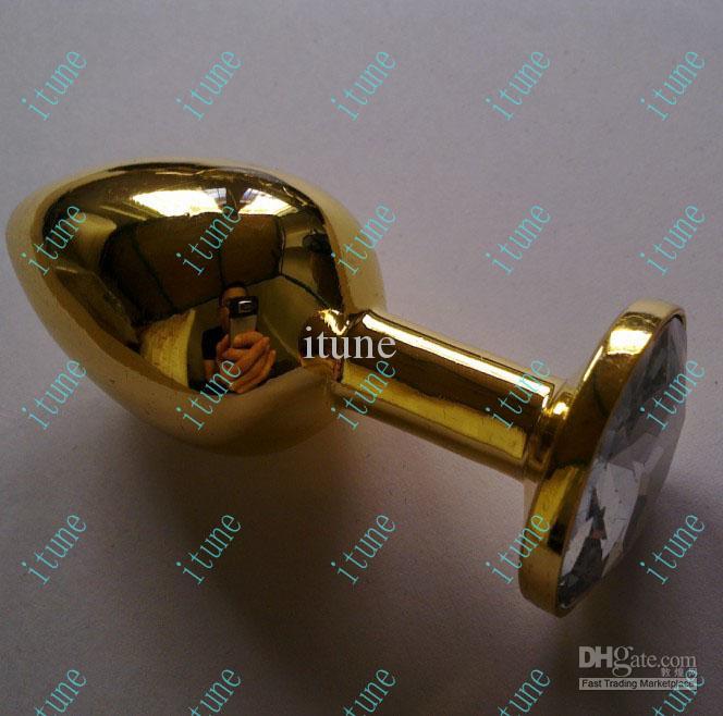 jeweled stainless steel rosebud anal plug