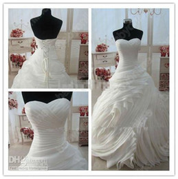 Wholesale 2013 Cheap Sexy Ball Gown Hot Sale Lace Bridal Gown Wedding Dress princess dress Organza Dresses