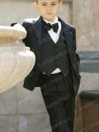 Wholesale 2012 Custom Made Kid Complete Designer Boy Wedding Suit Boys Attire Jacket Pants Tie Vest F69