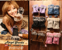 Wholesale 10 pairs Fashion Women Girls Ladies Fur Hand Wrist Warmer Winter Fingerless Gloves