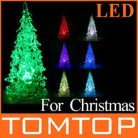Wholesale Colorful RGB LED Christmas Tree fairy lighting beauty Christmas Decoration Night Light H8979