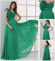 Actual Images prom dresses 2012 - 2012 Sexy Formal Dresses One Shoulder Pleat Hand Made Flower Chiffon Floor Length Prom Dress JOV015