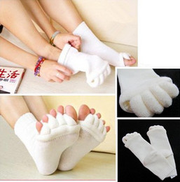 Wholesale Comfort Foot Toes Alignment Socks Stretch Tendon Relieve Pain Men Women Feet New