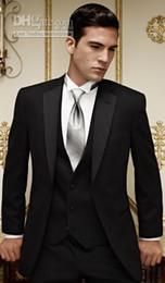 Wholesale Groom Tuxedos Best man Suit Babyonline Groomsman Men Suits Bridegroom Jacket Pants Tie Vest F358