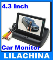 Wholesale 4 quot Foldable LCD Car Monitor Color Camera DVD VCR CCTV