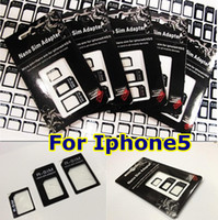 Wholesale 3 in Nano Micro Sim Card Adapter R sim Adapter for iPhone G th with Retail Package