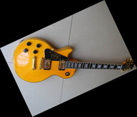 Wholesale Electric Guitar EBONG FINGER amp FRETSIDE BINDING Custom Shop Randy Rhoads yellow Left Handed