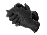 exam gloves - 200 Black Disposable Latex Exam Tattoo Medical Gloves large size