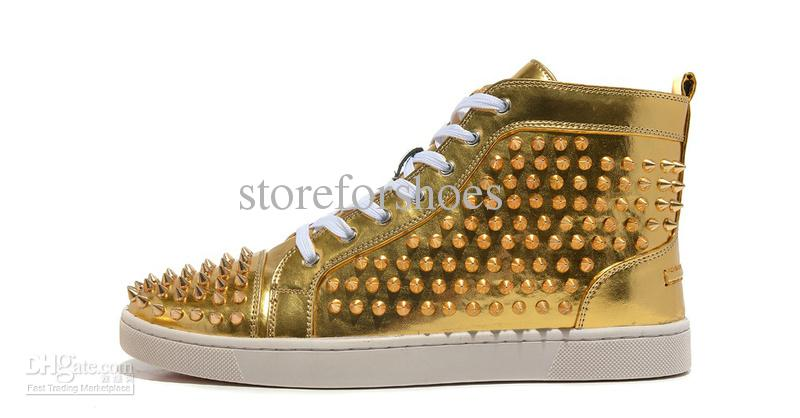 Real Gold Shoes For Men Cheap casual shoes - best gold