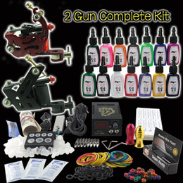 Wholesale Beginner Gun Kit Pro Machine Gun Power Supply Foot Pedal Needles Grip Tip Ink K154