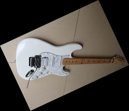 White Five Star Fingerboard Electric Guitar Free Shipping 12 0521