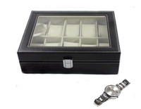 Wholesale boxes of watches fashion high end PU leather watch display case storage box watch box