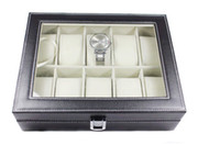 Wholesale 10 boxes of watches fashion high end PU leather watch display case storage box watch box