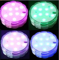 80pcs lot New arrinal 10LED changing color submersible remot...