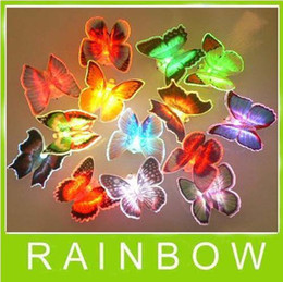 120pcs lot RA Colorful Butterfly Night Light LED Color Changing Lamp Light decoration Gift