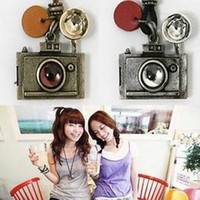 Wholesale Fashion Vintage Camera Pandant Necklace Sweater Chain Long Style Necklaces New Women s Jewelry