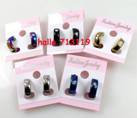 Wholesale 30Pairs Unique Mens Magnetic No Pierced Stainless Steel Earrings Colors Top Mix Jewelry