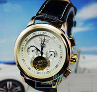Wholesale jaragar big men leather luxury swiss automatic watches mens mechanical watch gold