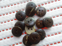 Coconut buttons 15mm 2-holes buttons craft sewing buttons wooden FREE SHIPPING