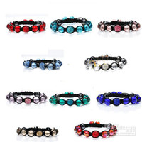 Unisex armband jewellery - 10pcs Macrame mm disco ball pave beads mm crystal bracelets jewelry armband jewellery