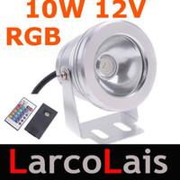 Wholesale 10pcs W RGB V LM LED Underwater Light LED Flood Light Waterproof Landscape Lighting Outdoor