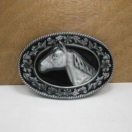 BuckleHome horse buckle animal buckle with pewter plating FP-02854 free shipping