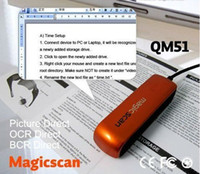 Wholesale Newest QM51 Mini USB scanner Magic scanning Portable Color Hand film Scanner languages supported