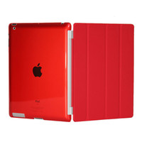 Wholesale Red iPad Smart Cover Slim Magnetic PU Leather Case Wake Sleep Stand