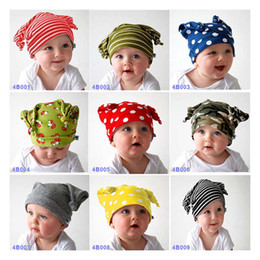 Wholesale new Autumn winter baby hat The double layer sleeve capTwin Towers cap super cute knit hat cap