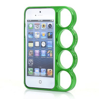Plastic For Apple iPhone  the new ! Brand New Phone Brass Knuckle Case for iphone5 5th With retail package Mobile phone cover