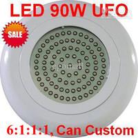 achat en gros de 90w led ufo plant light-UFO 90W Spectre Complet Hydroponique, Lampe d'Usine de LED élèvent la Lumière R:B:O:W=6:1:1:1 O177
