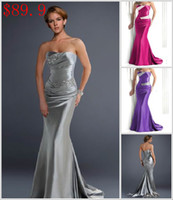 Wholesale Bridesmaid Dresses New Sexy Colorful hot selling strapless long length Party Evening Dresses