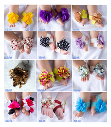Wholesale Toddler Baby Barefoot Socks Sandals Shoes Children Rose Foot Ornaments Infant Flower Socks