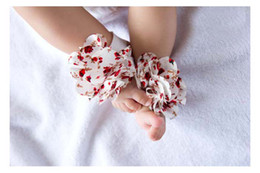 Wholesale styles Baby Barefoot Flower Socks Sandals Shoes Infant Children Rose Foot Ornaments