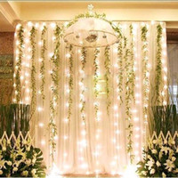 Wholesale 300 LED light m m Curtain Lights Christmas Ornament Wedding lighting Flash Xmas String light