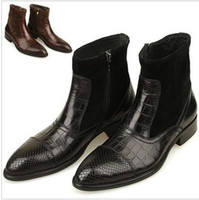 Wholesale Mens Boots British short boots leather casual fashion boots leather high top shoes