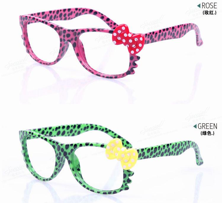 cartoon bow glasses cat design leopard children glasses frame kids fashion eyewear
