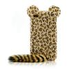 Leopard with Hairy Tail Silicone Case Cover TPU Cases for iPhone 5 5G