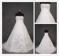 Wholesale Custom New Arrival Strapless Beaded Lace Sexy Plus Size Wedding Dresses Maternity Wedding Gowns
